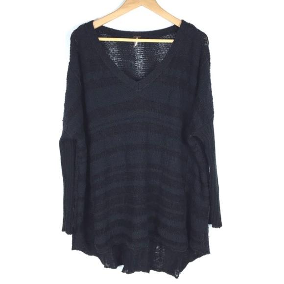 Free People Sweaters - Free People | Dk Grey & Black Oversized | Sweater